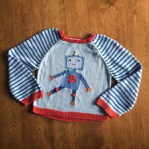 Zubels robot sweater 2-3T